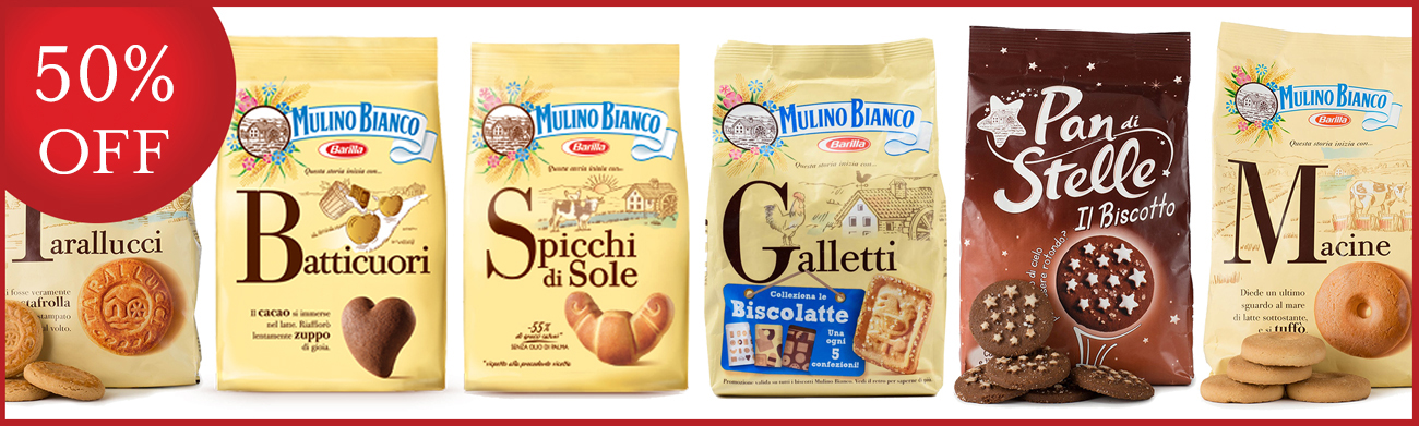 Pop-up Sale: 50% off Mulino Bianco
