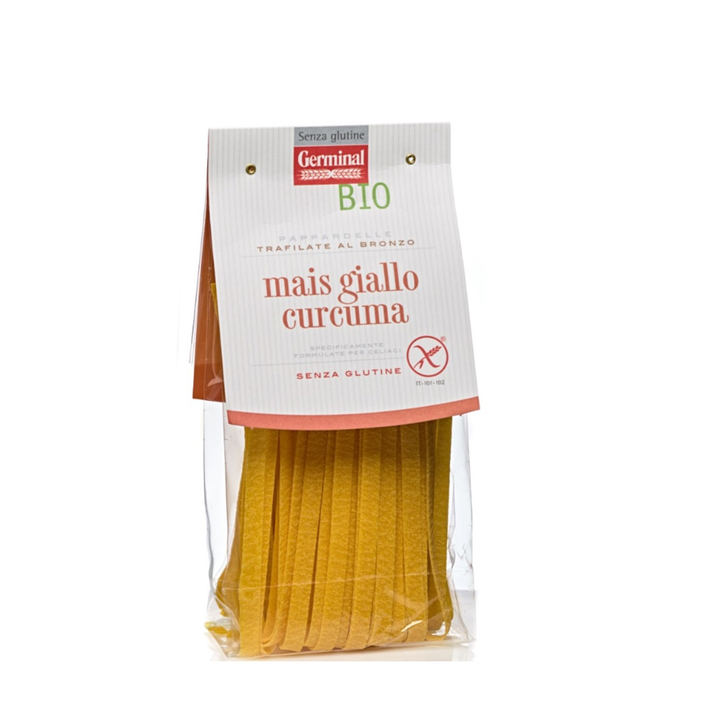 Yellow Corn & Tumeric Pappardelle 8 oz