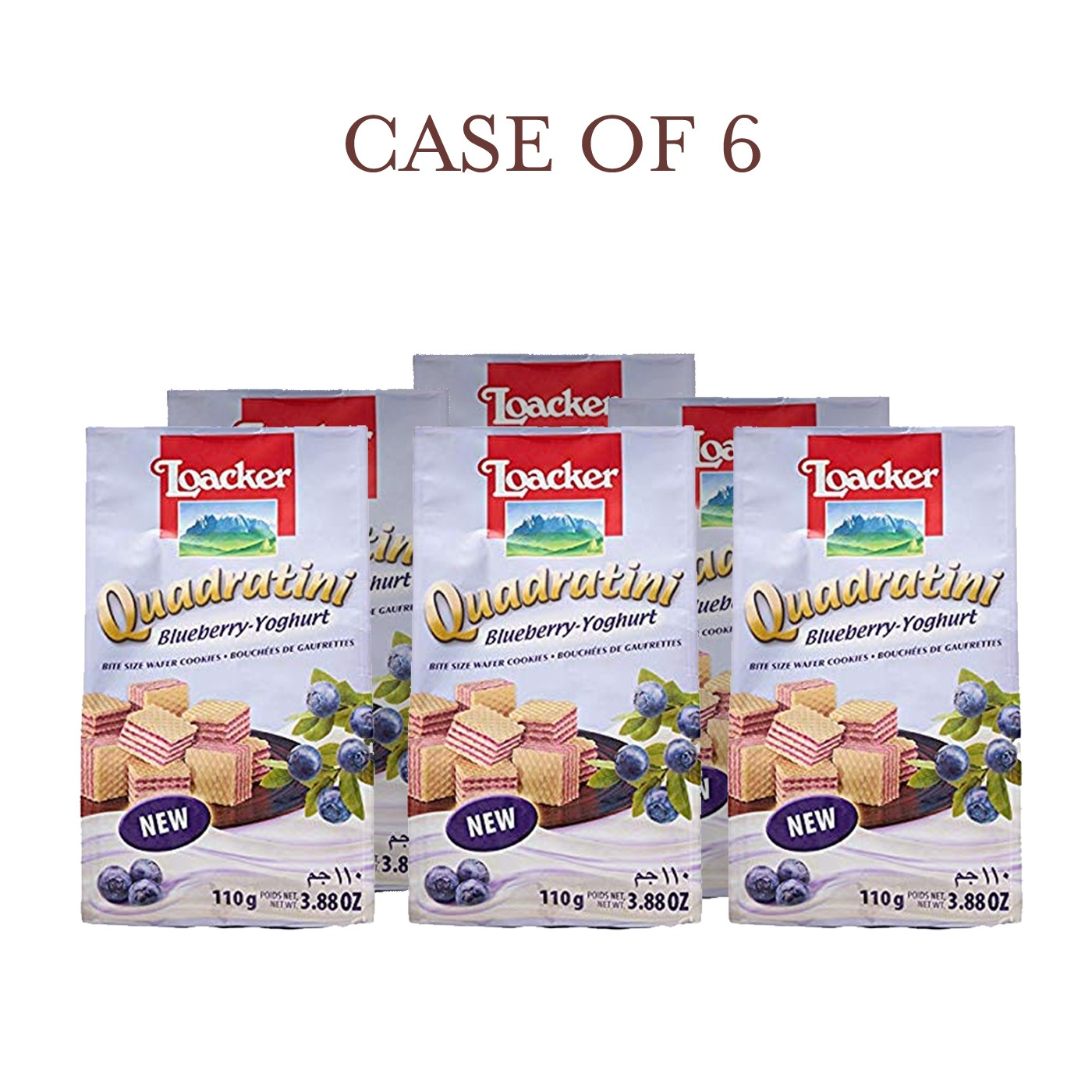 Blueberry-Yogurt Quadratini - Case of 6
