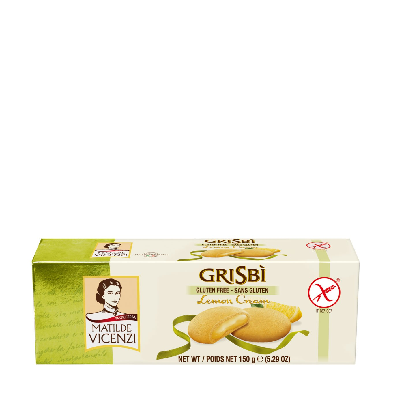 Grisbì Gluten-Free Lemon Cream-Filled Cookies 5.29 oz