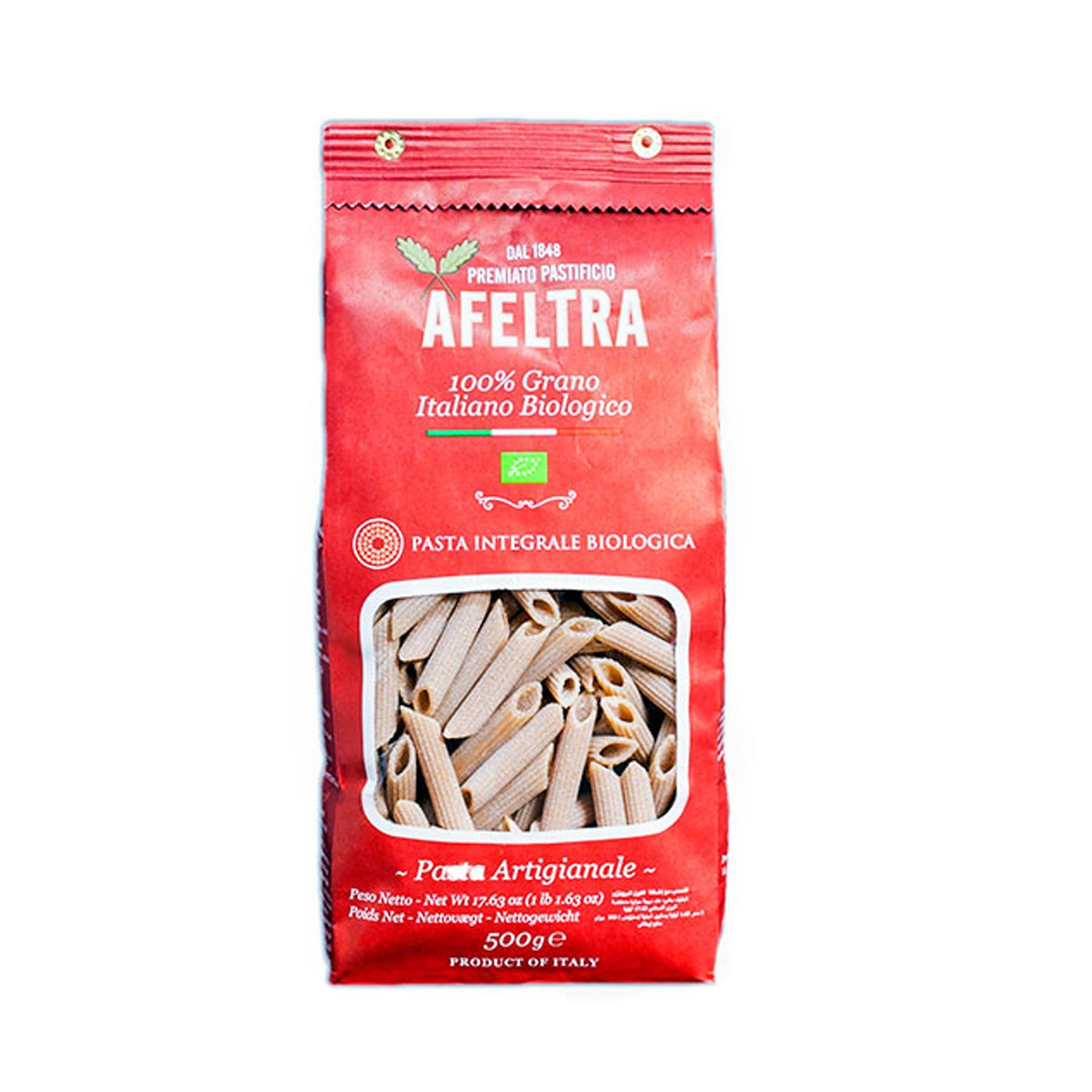 Organic Wholewheat Penna Rigata 17.6oz
