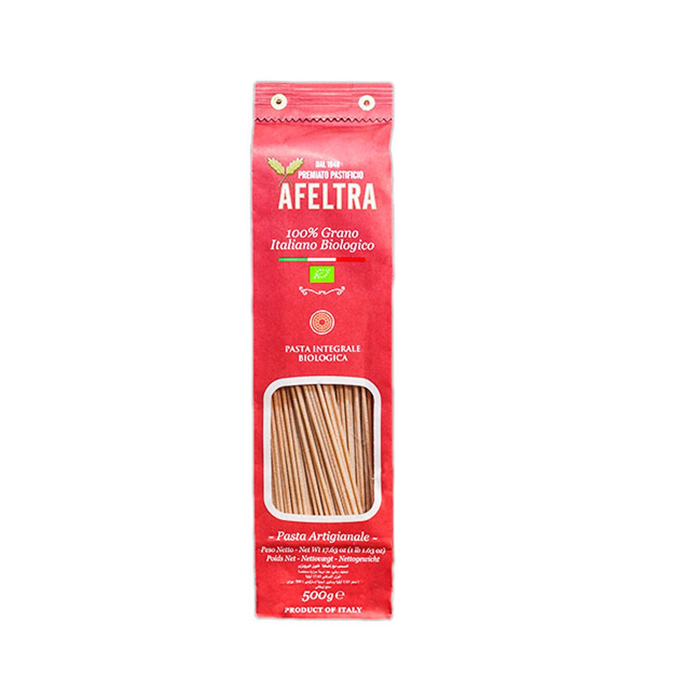 Organic Wholewheat Spaghettoni 17.6oz