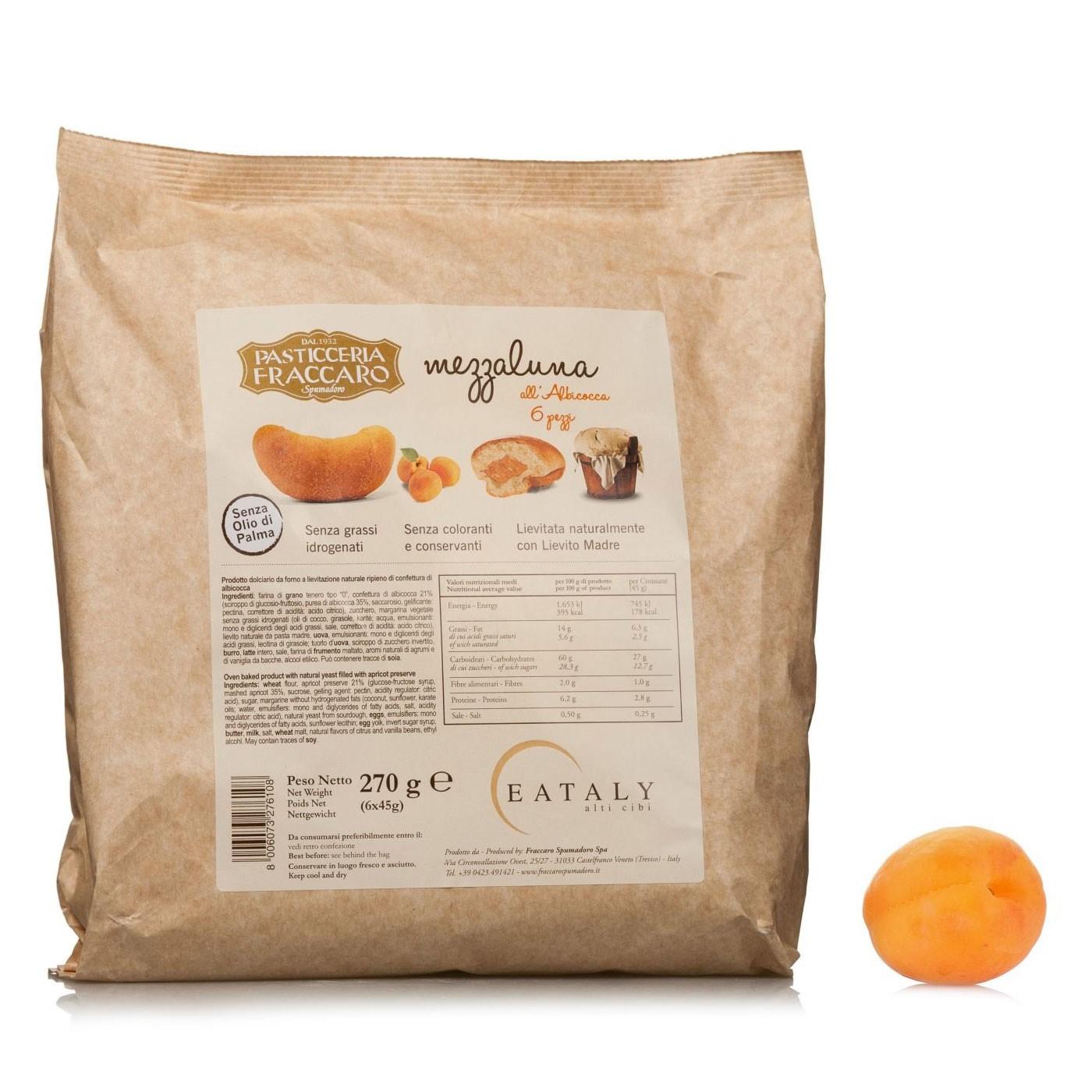 Apricot Mezzaluna Breakfast Pastries 9.54 oz - Fraccaro | Eataly.com