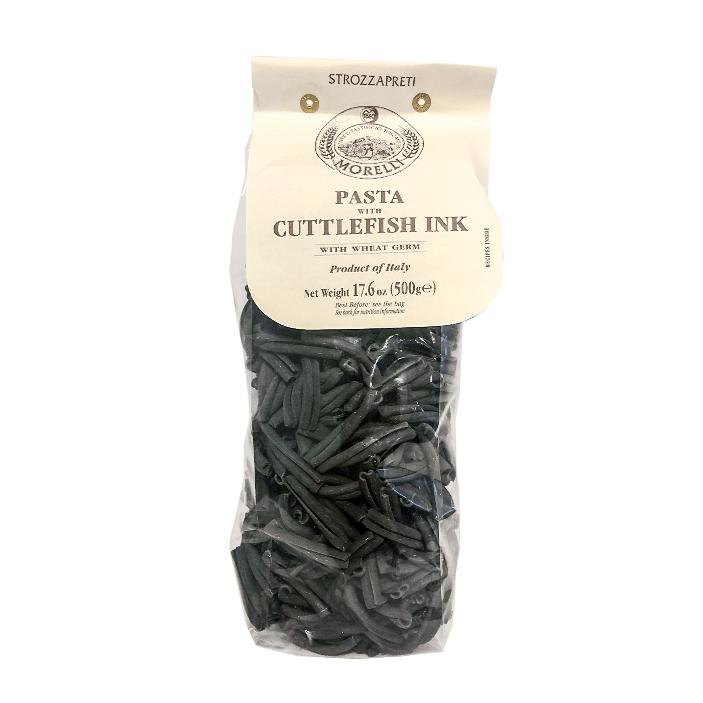 Strozzapreti Pasta with Cuttlefish Ink 17.6oz