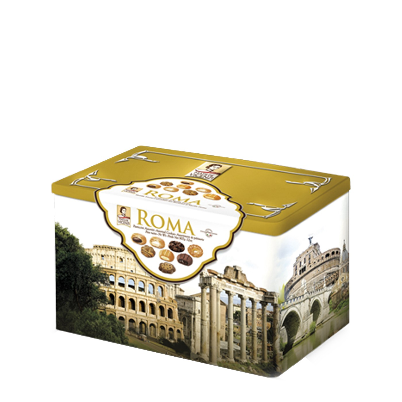Roma Assorted Puff Pastry & Shortbreads Tin 32oz