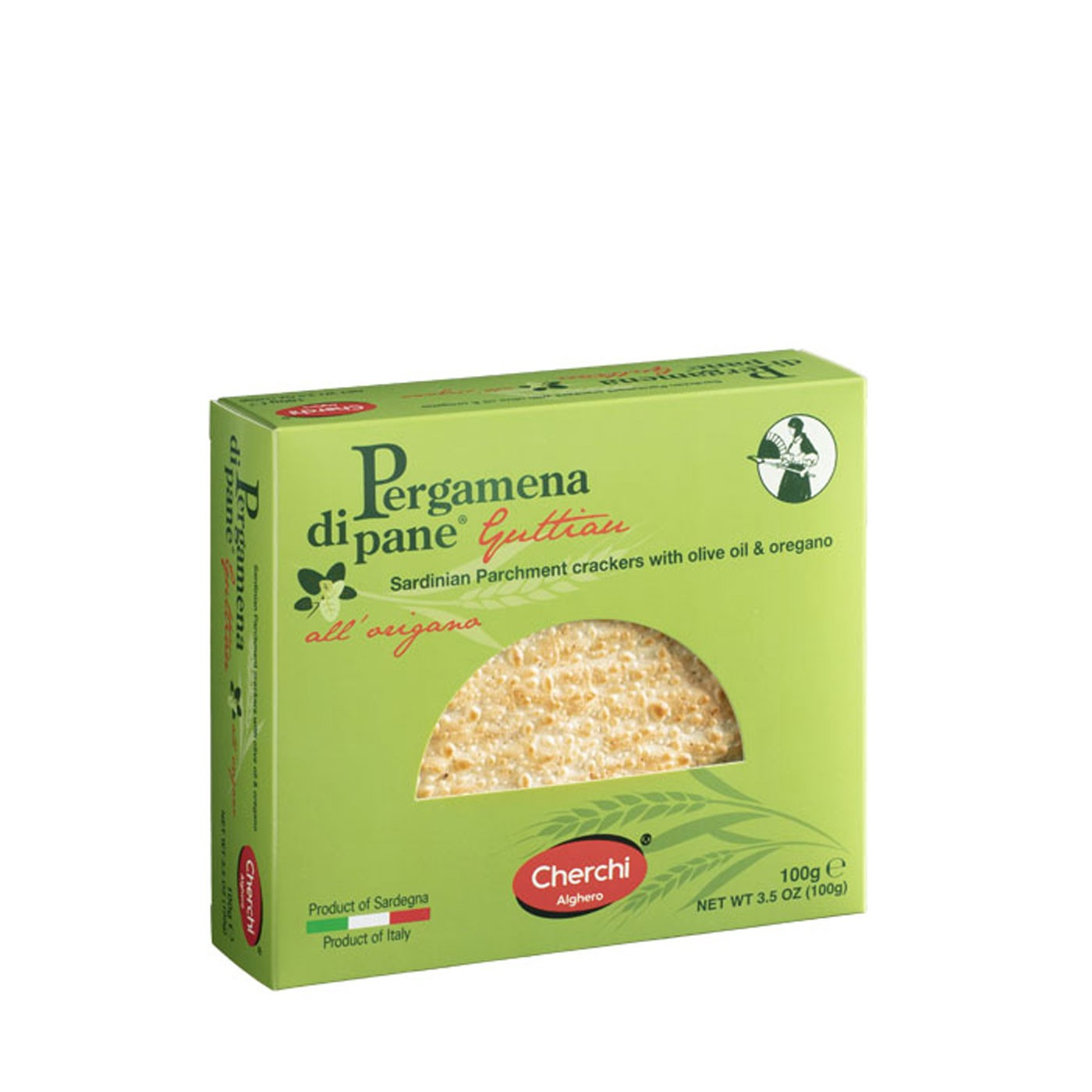Pergamena di Pane with Oregano Crispbread 3.5 oz - Cherchi | Eataly.com
