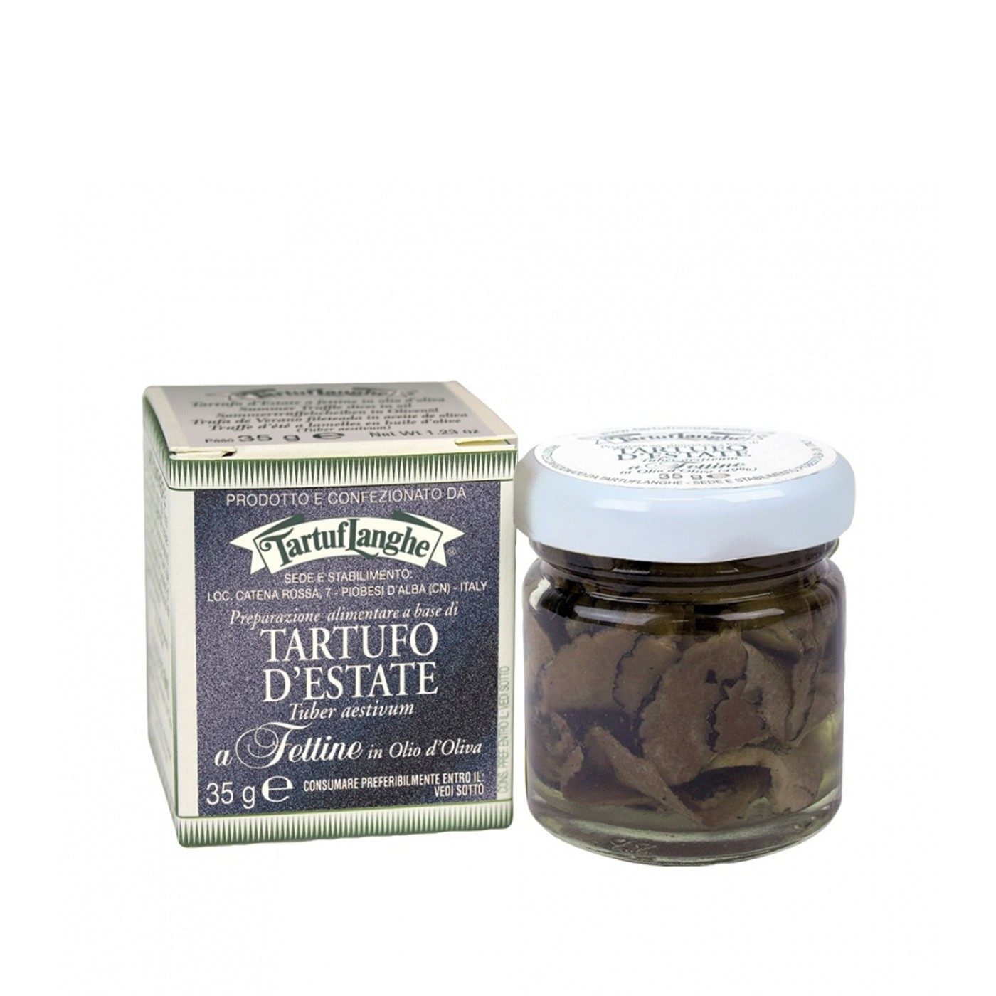 Sliced Black Summer Truffles in Oil 1 oz