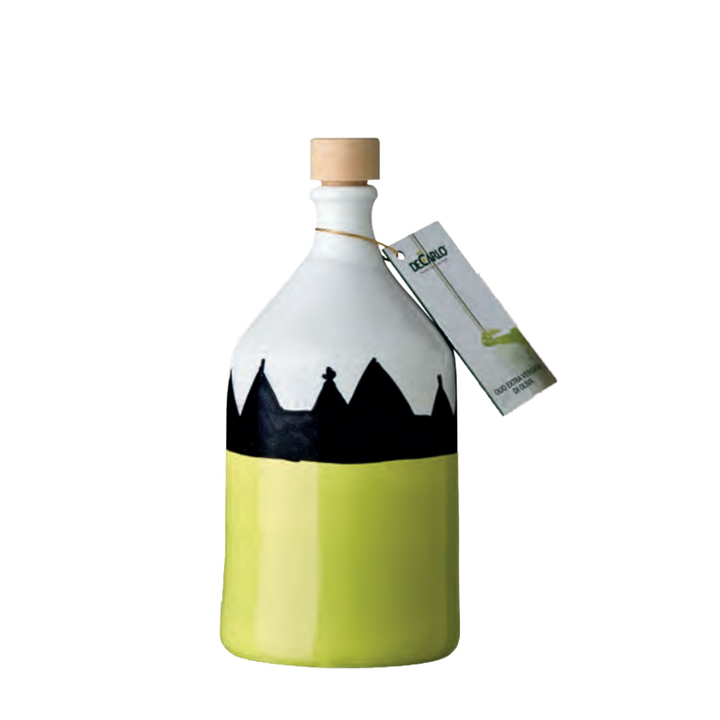 Extra Virgin Olive Oil in Hand-painted Ceramic Bottle 8.5 oz