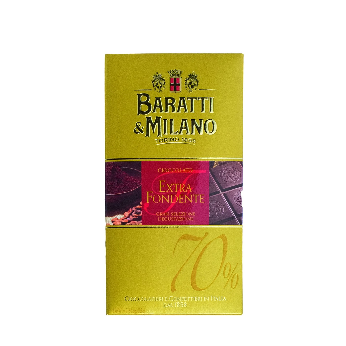 Extra Dark Chocolate Bar 2.6 oz