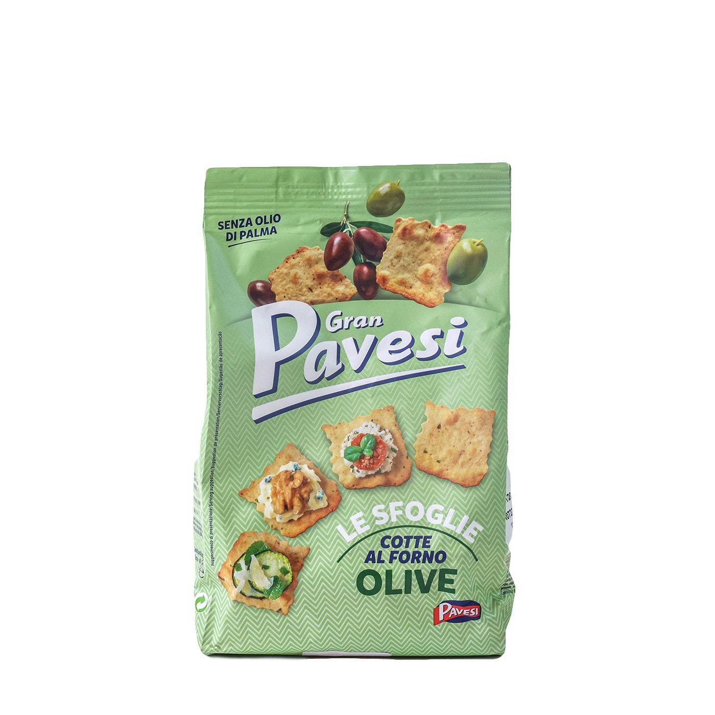 Le Sfoglie Gran Pavesi Olive Crackers 5.6 oz