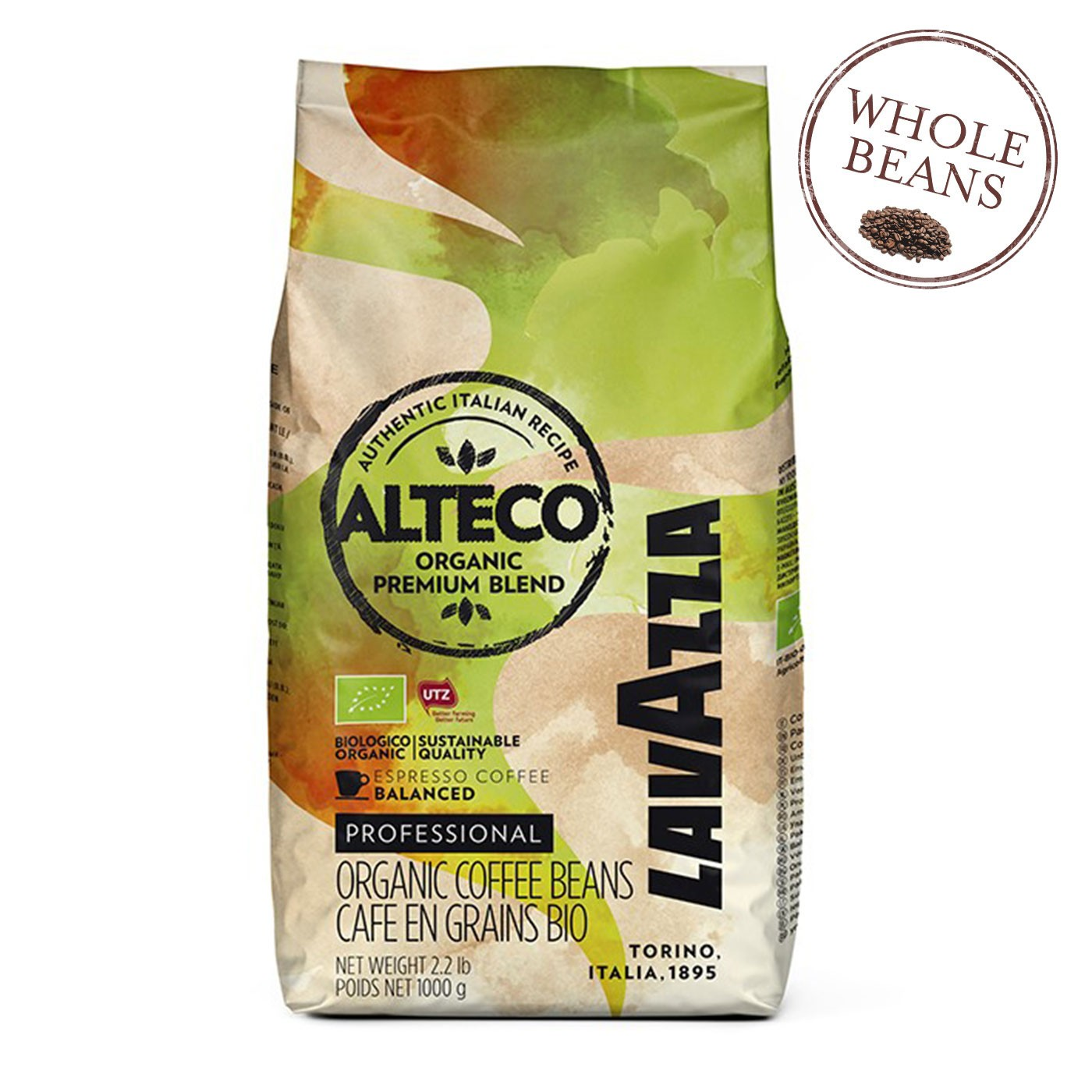 Organic Alteco Espresso Whole Beans 35.2 oz - Lavazza | Eataly.com