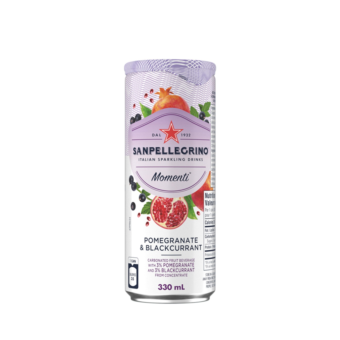 Momenti Pomegranate and Blackcurrant Sparkling Soda 11 oz