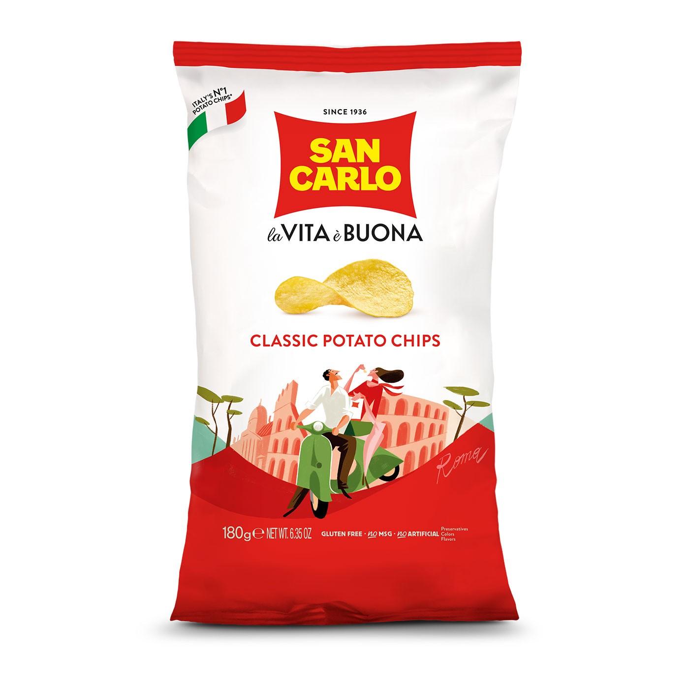 Classic Potato Chips 6.3 oz  - San Carlo