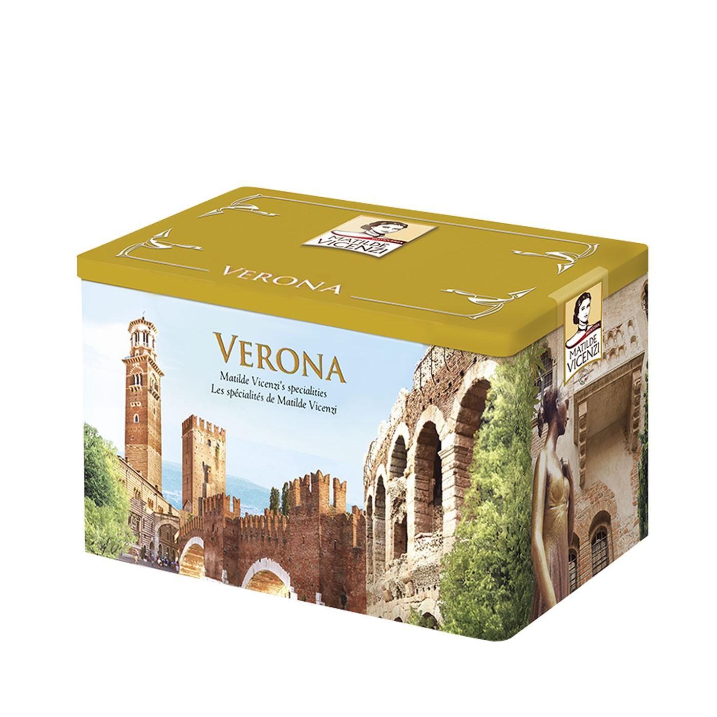 Verona Assorted Puff Pastry & Shortbreads Tin 32oz - Vicenzi   Eataly.com