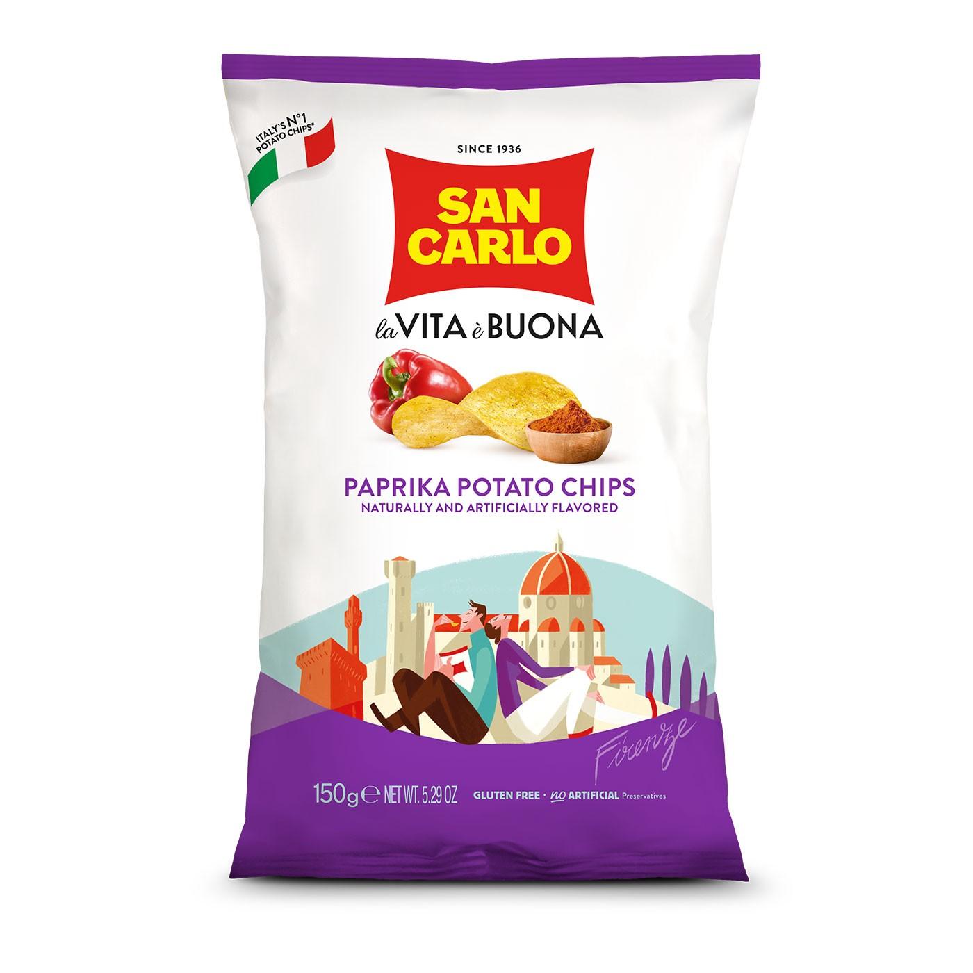 Paprika Flavored Potato Chips 5.3 oz