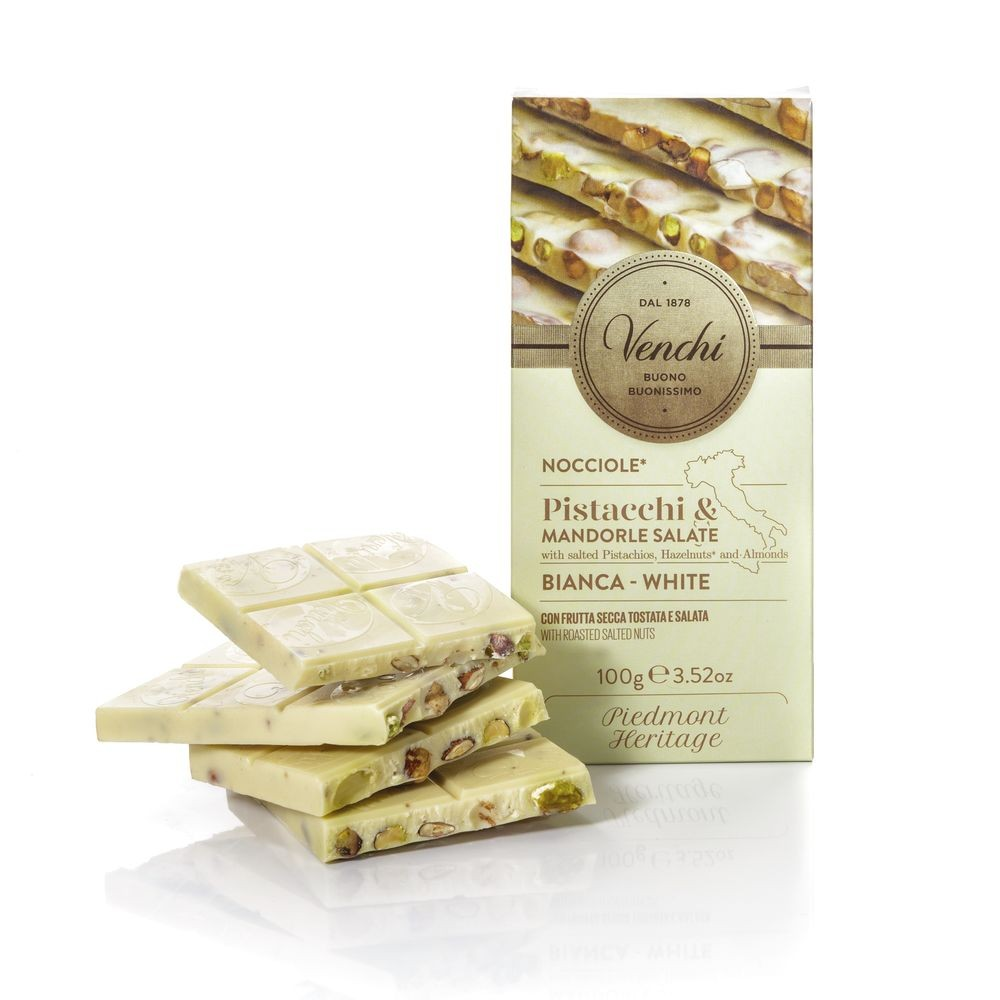 White Chocolate with Nuts Bar 3.53 Oz