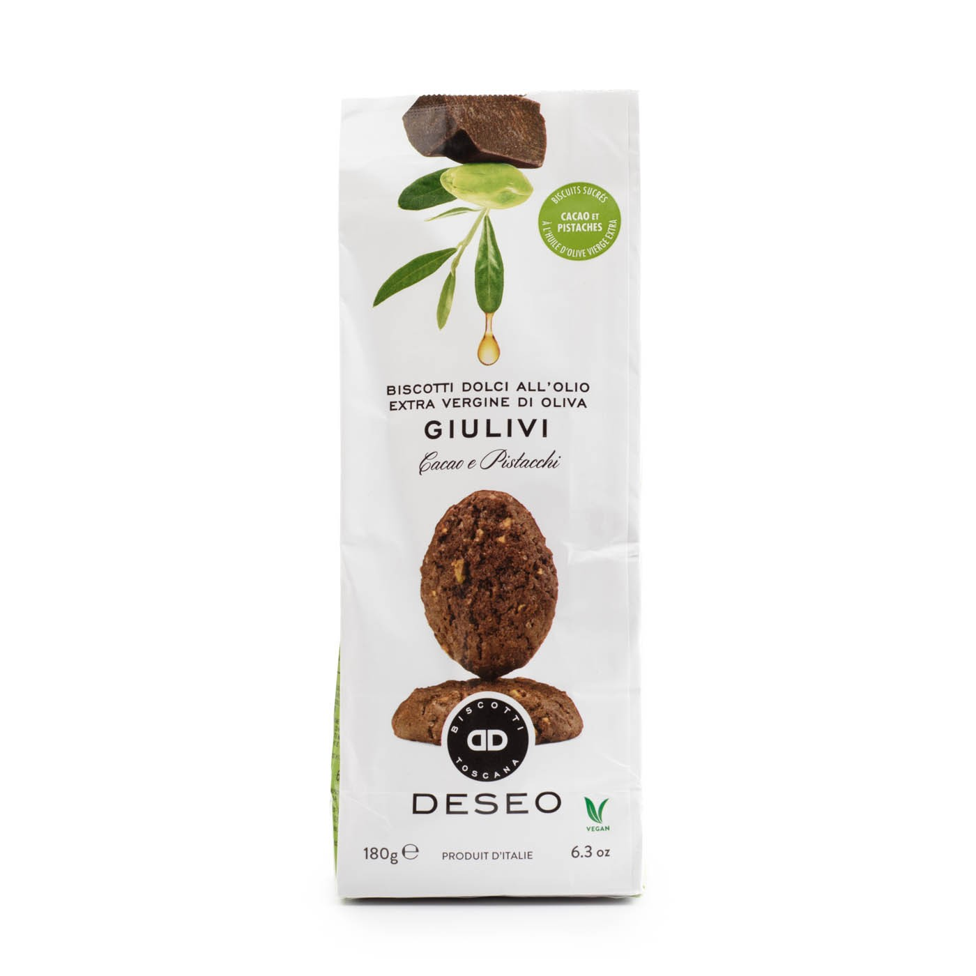 Cookies Extra Virgin Olive Oil Cocoa Pistachio  6 oz