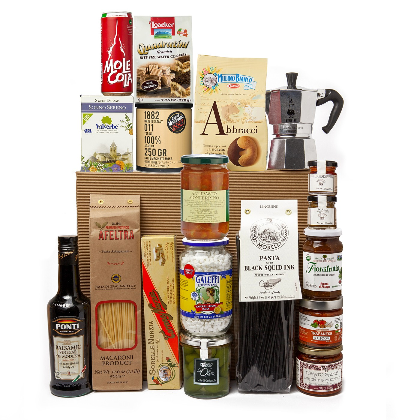 Christmas gift basket with Italian high quality products