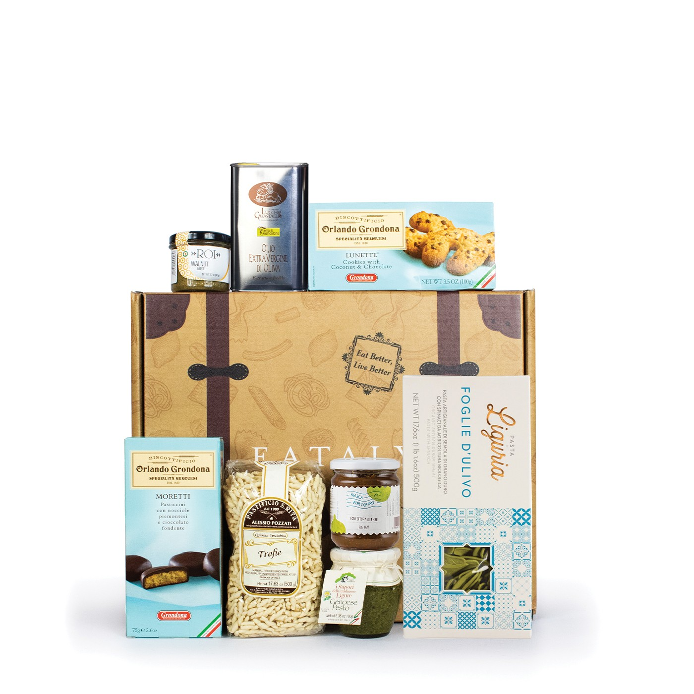 Holiday gift basket with Cinque Terre typical products