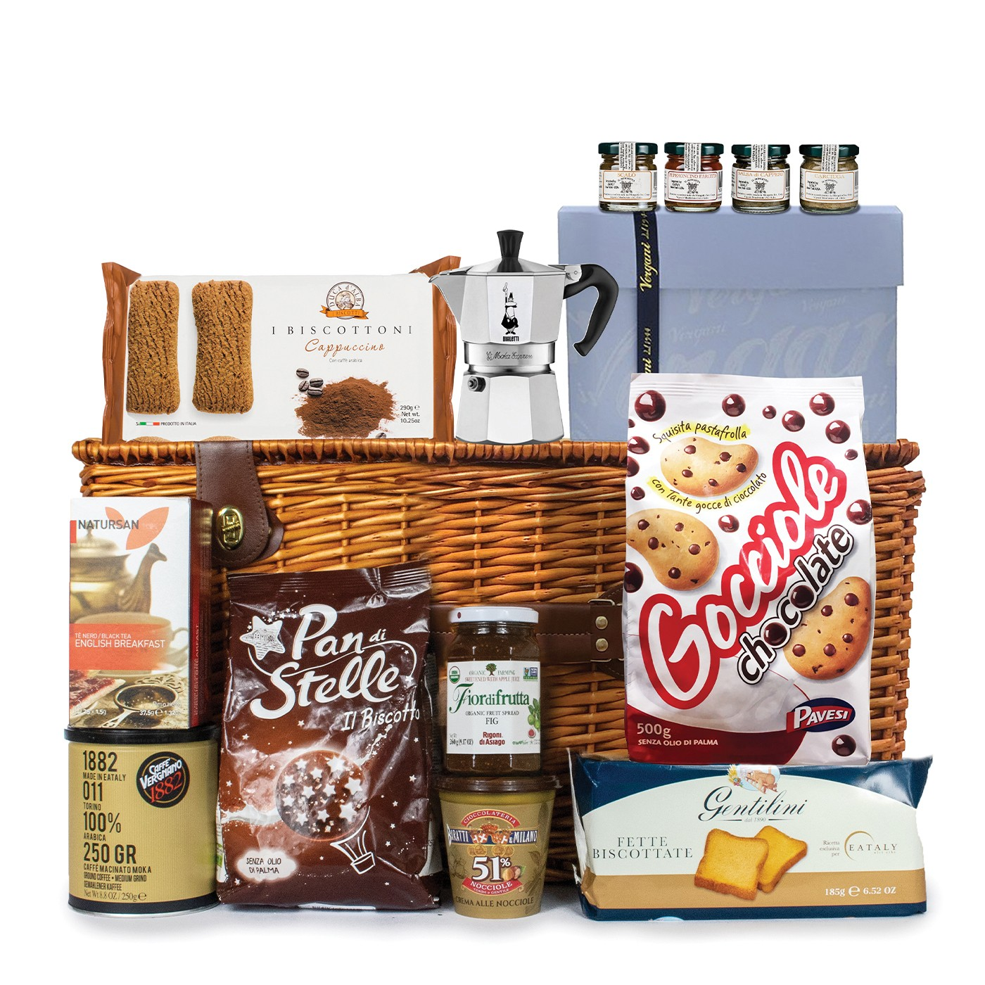 Christmas gift basket: traditional breakfast products