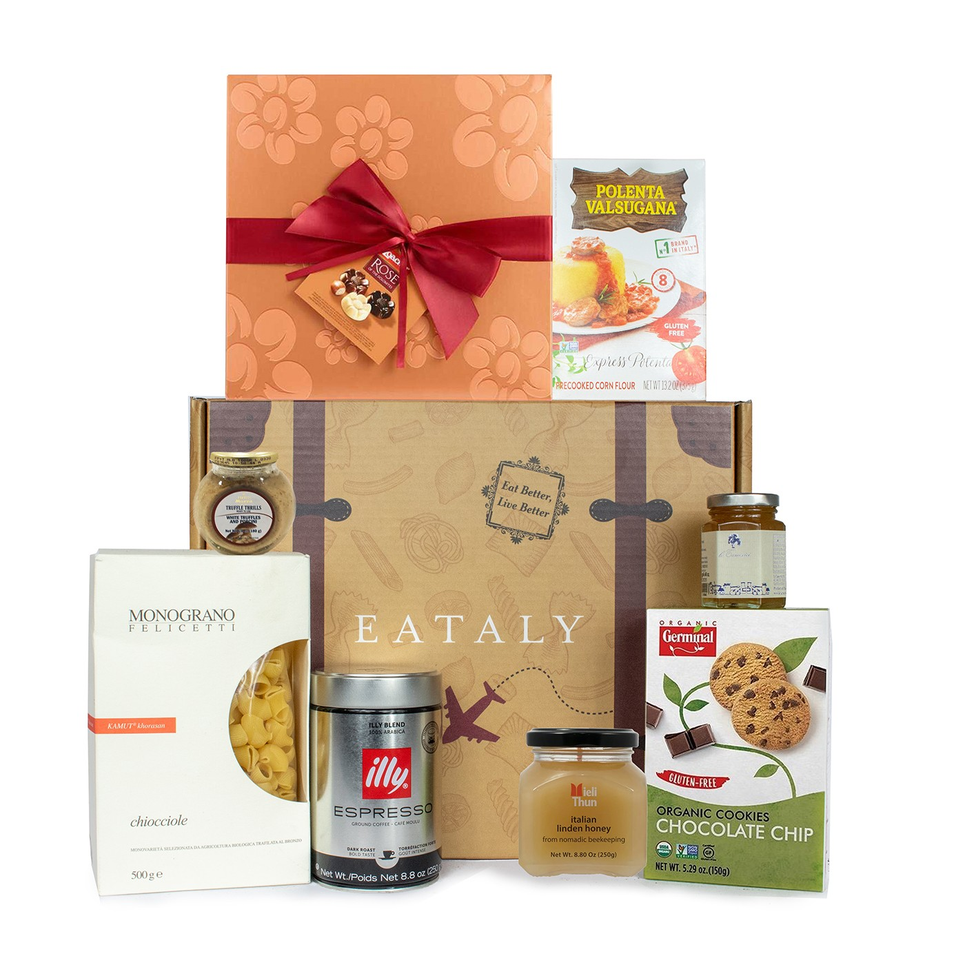 Holiday gift basket with Italian Alps products