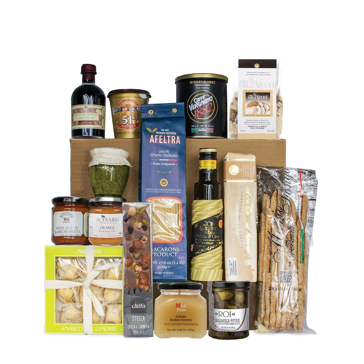 Italian gift basket with regional products