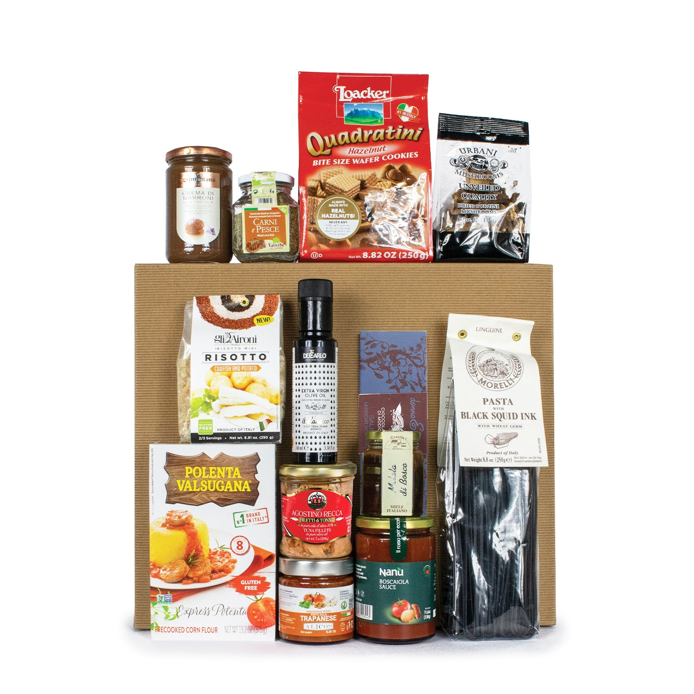 Italian gift basket with Italian specialties