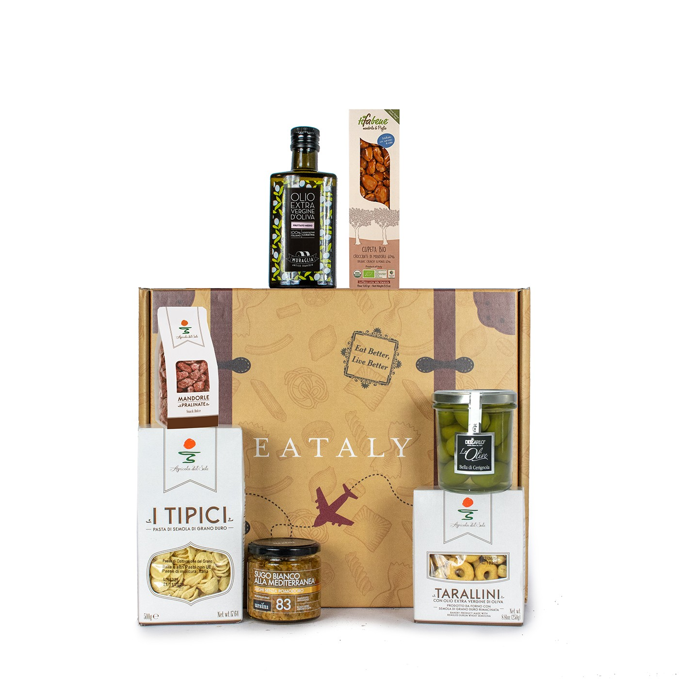 Holiday gift basket with Apulian typical products