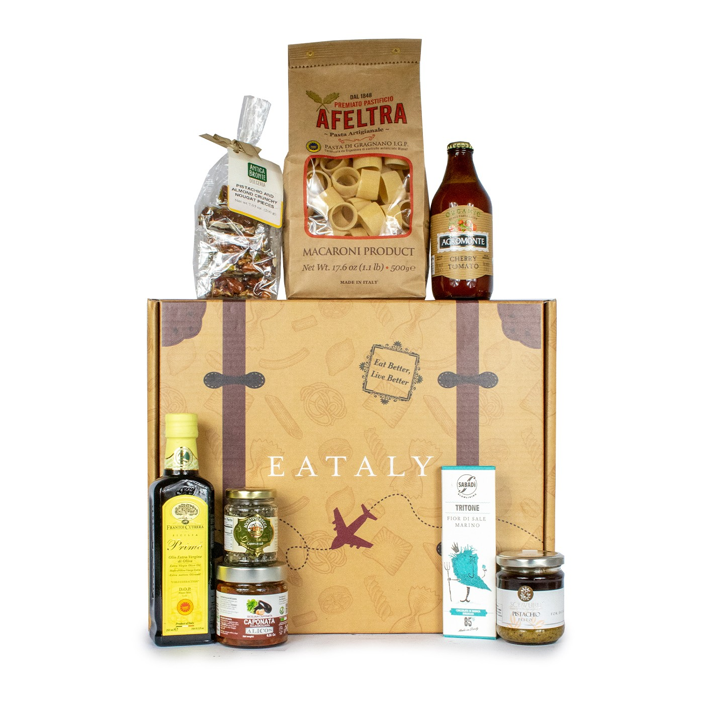 Holiday gift basket with Sicilian typical products