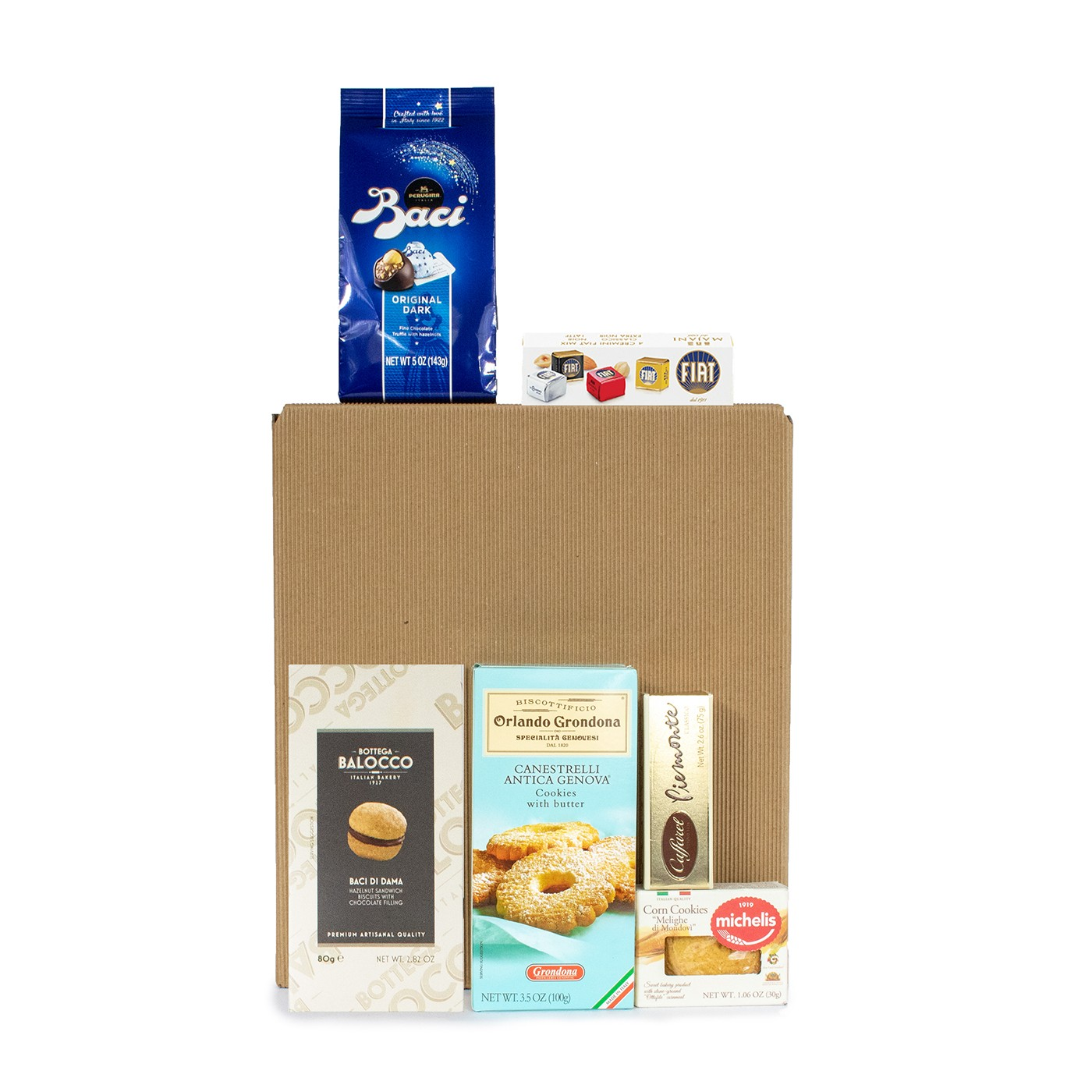 Christmas gift baskets with Italian sweets