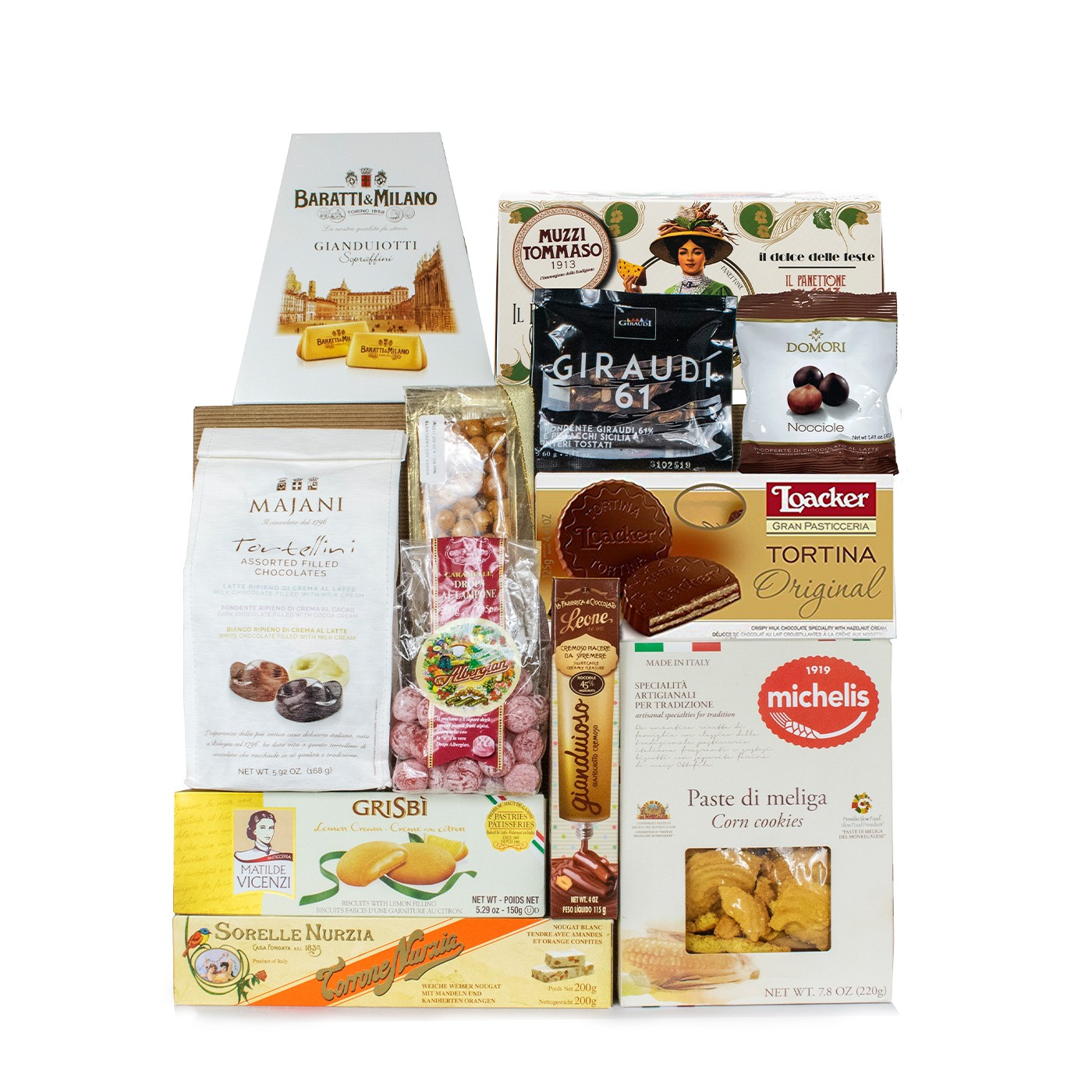 Holiday gift basket with Italian confections