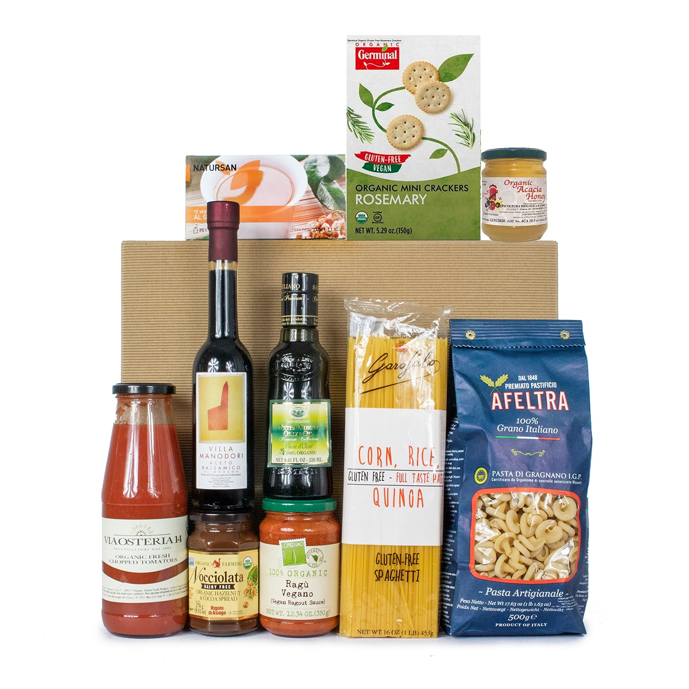 Gluten-free and organic gift basket