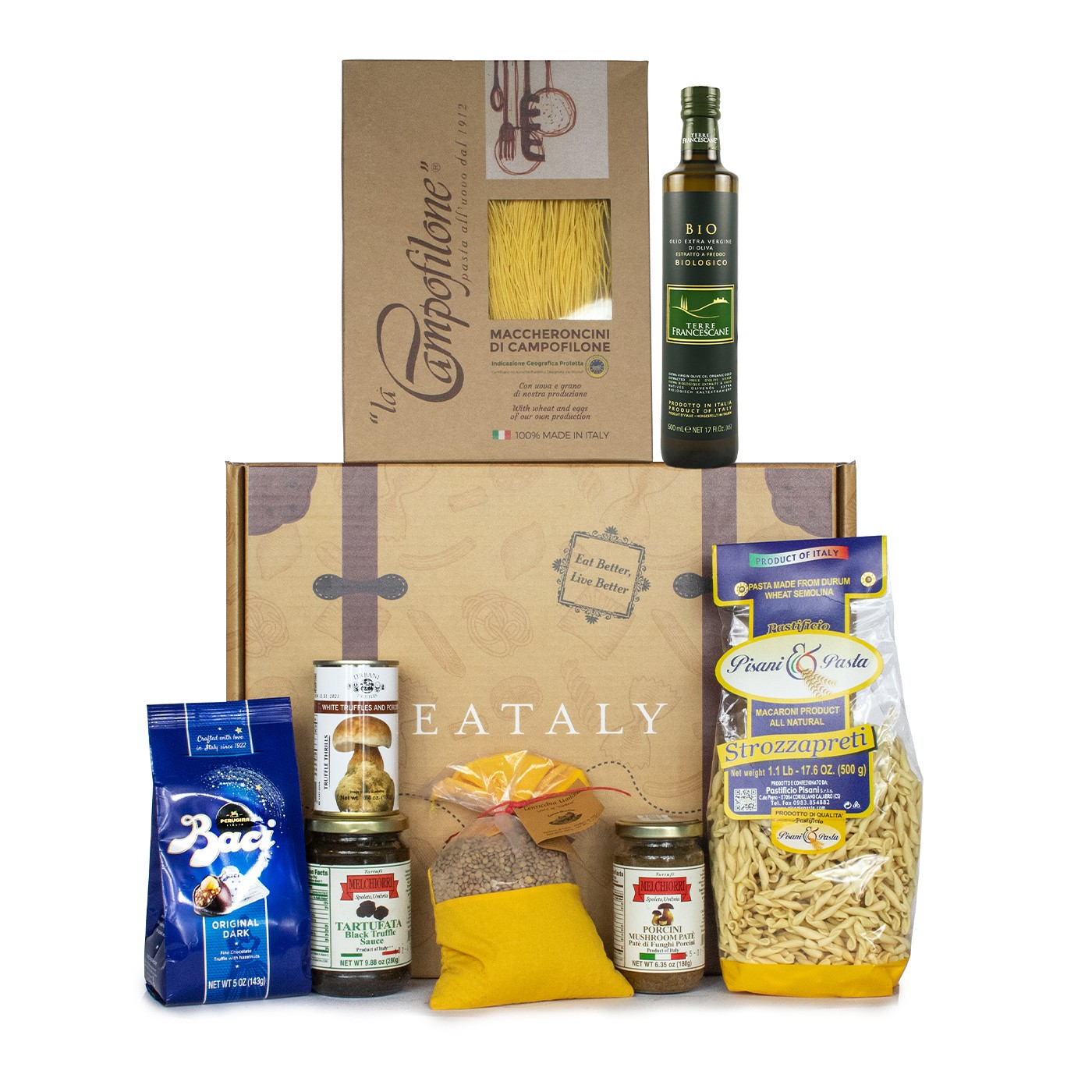 Holiday gift basket with Umbria typical products