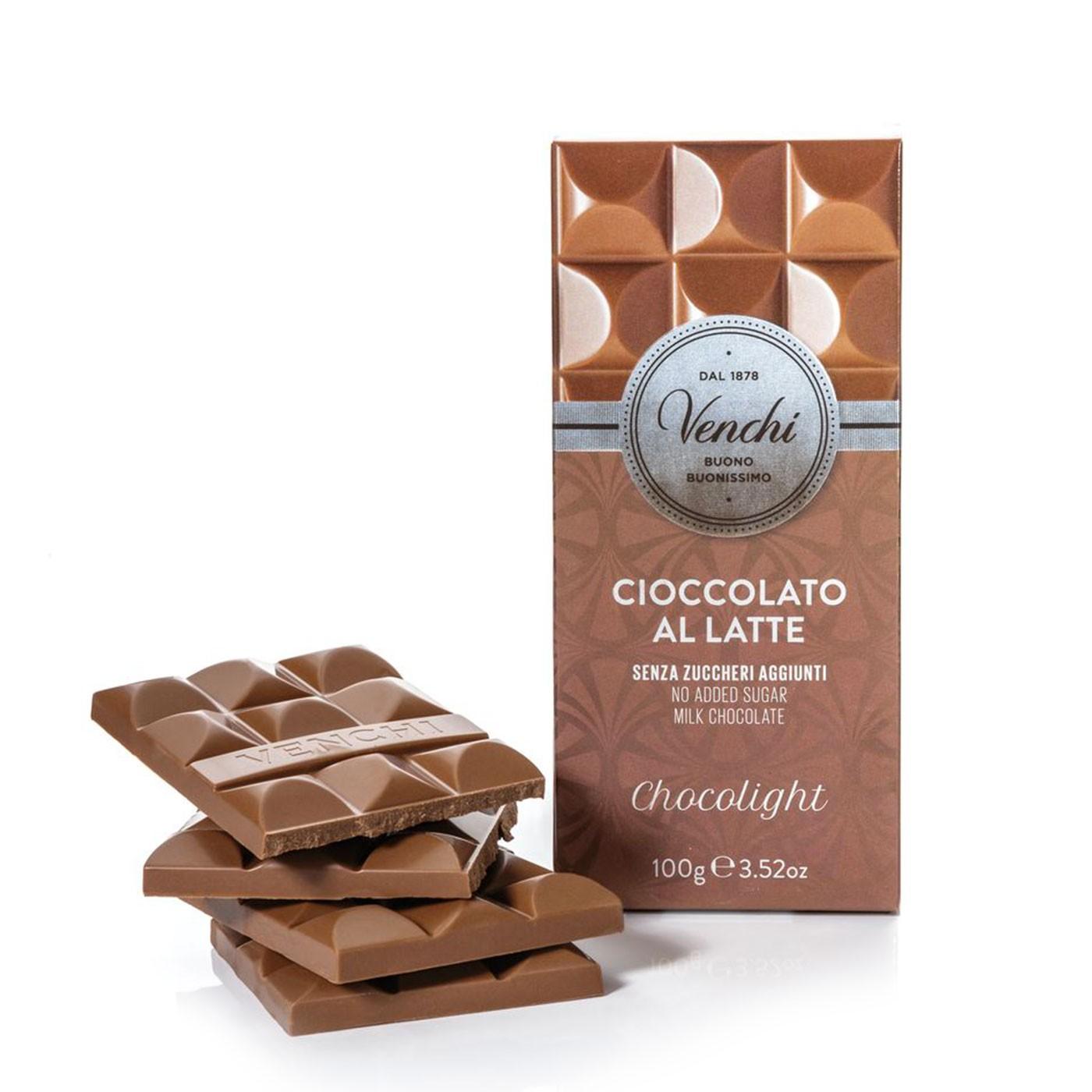 Chocolight Milk Chocolate Bar 3.5 oz