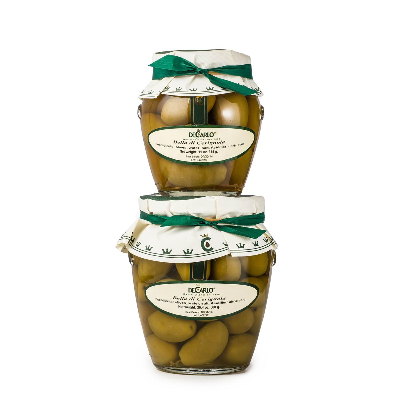 Bella Cerignola Olives 7.5 oz