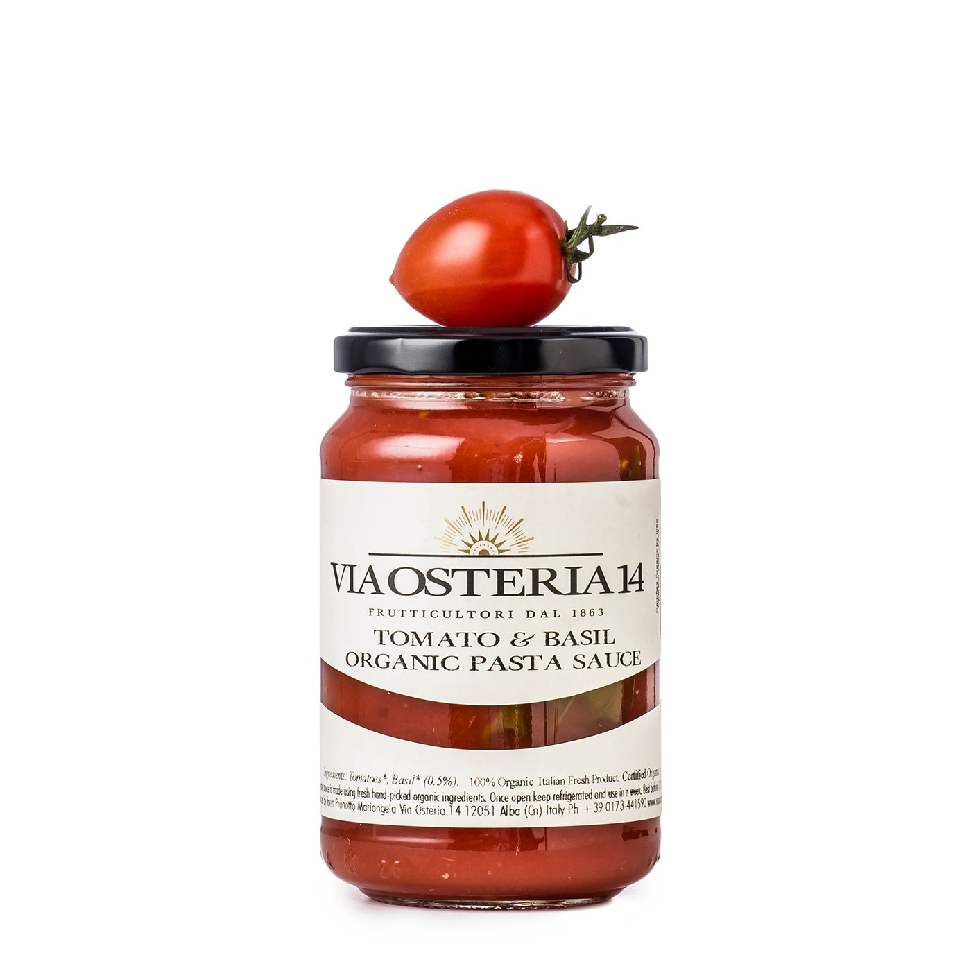 Organic Crushed Tomatoes with Basil 12 oz