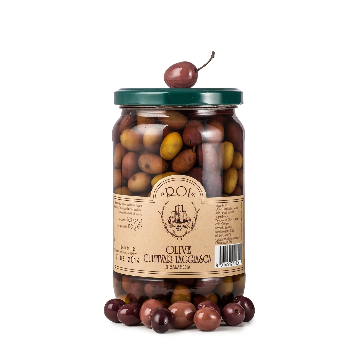 Taggiasca Olives in Brine 17.6 oz