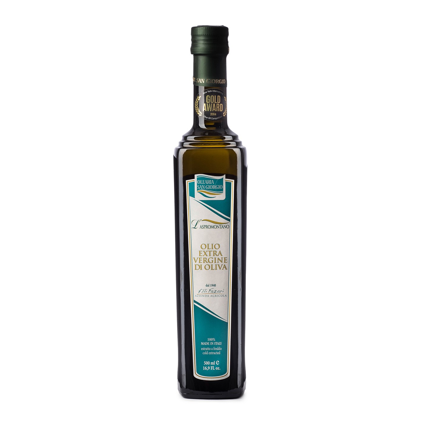 Extra Virgin Olive Oil Aspromontano 16.9 oz