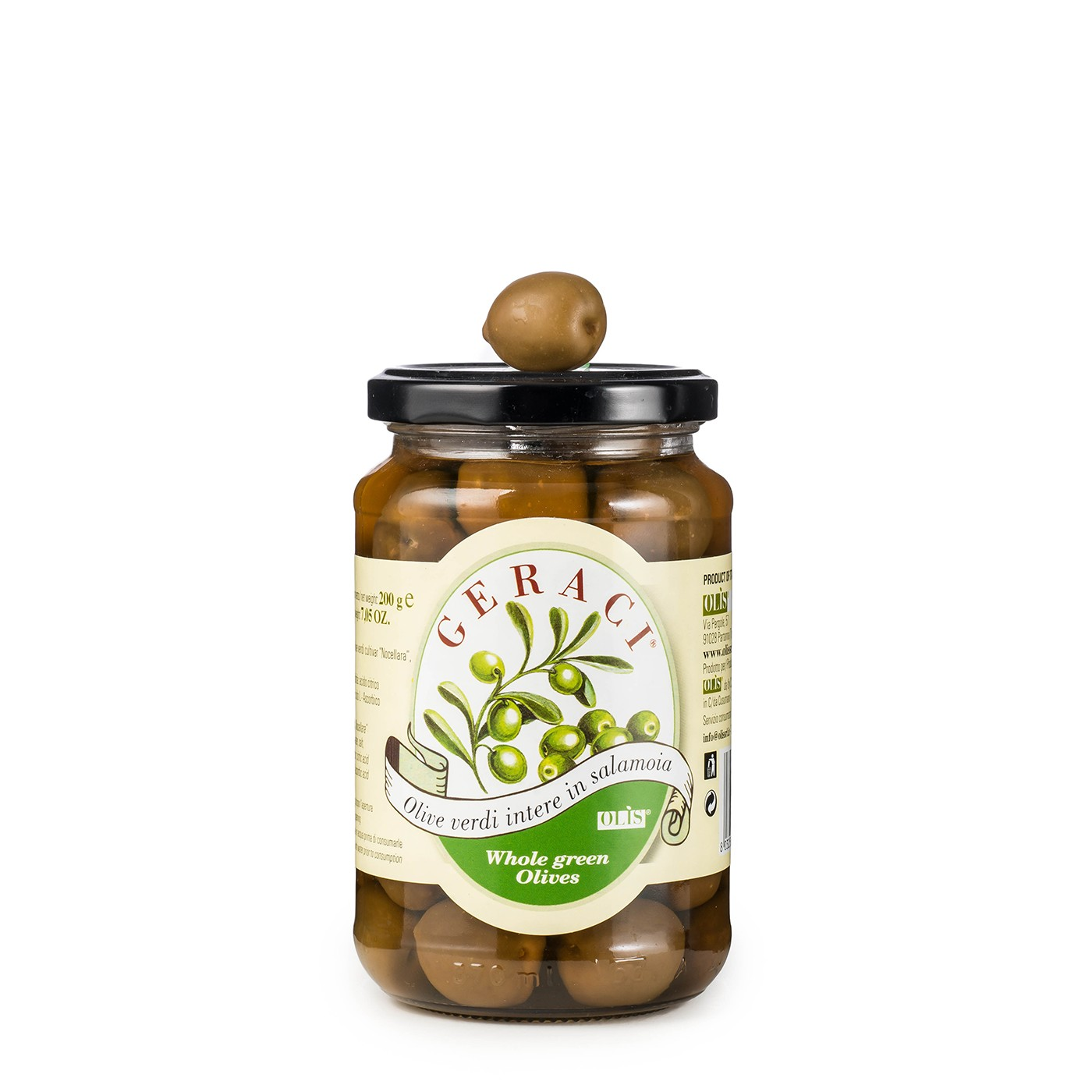 Green Olives in Brine 7 oz