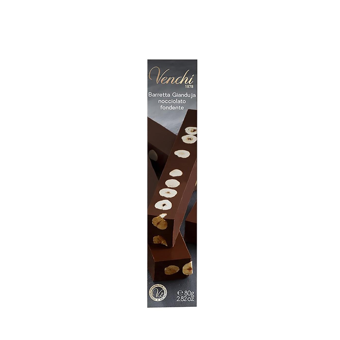 Dark Chocolate Gianduja Bar 2.8oz