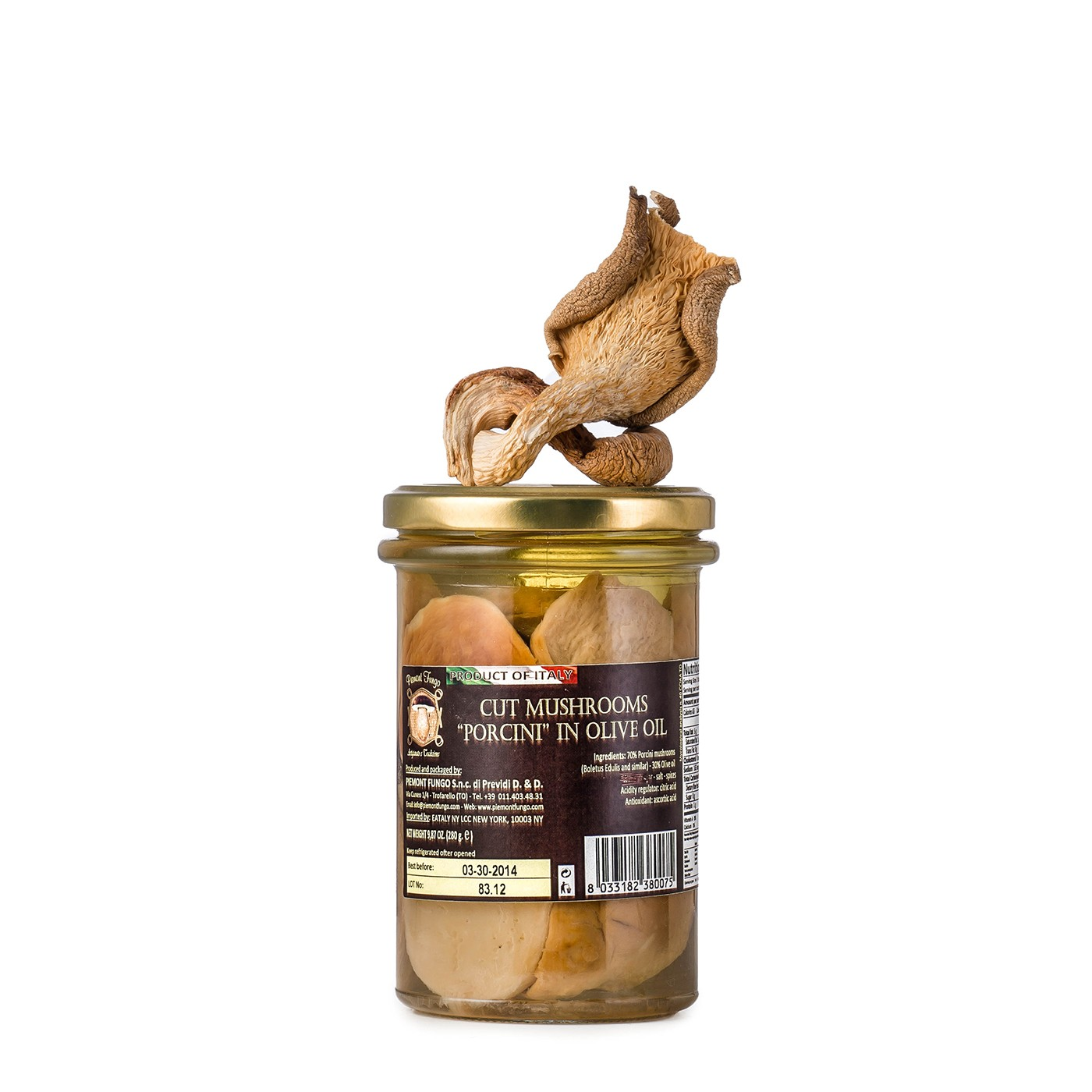 Sliced Porcini Mushrooms in Oil 9.87 oz