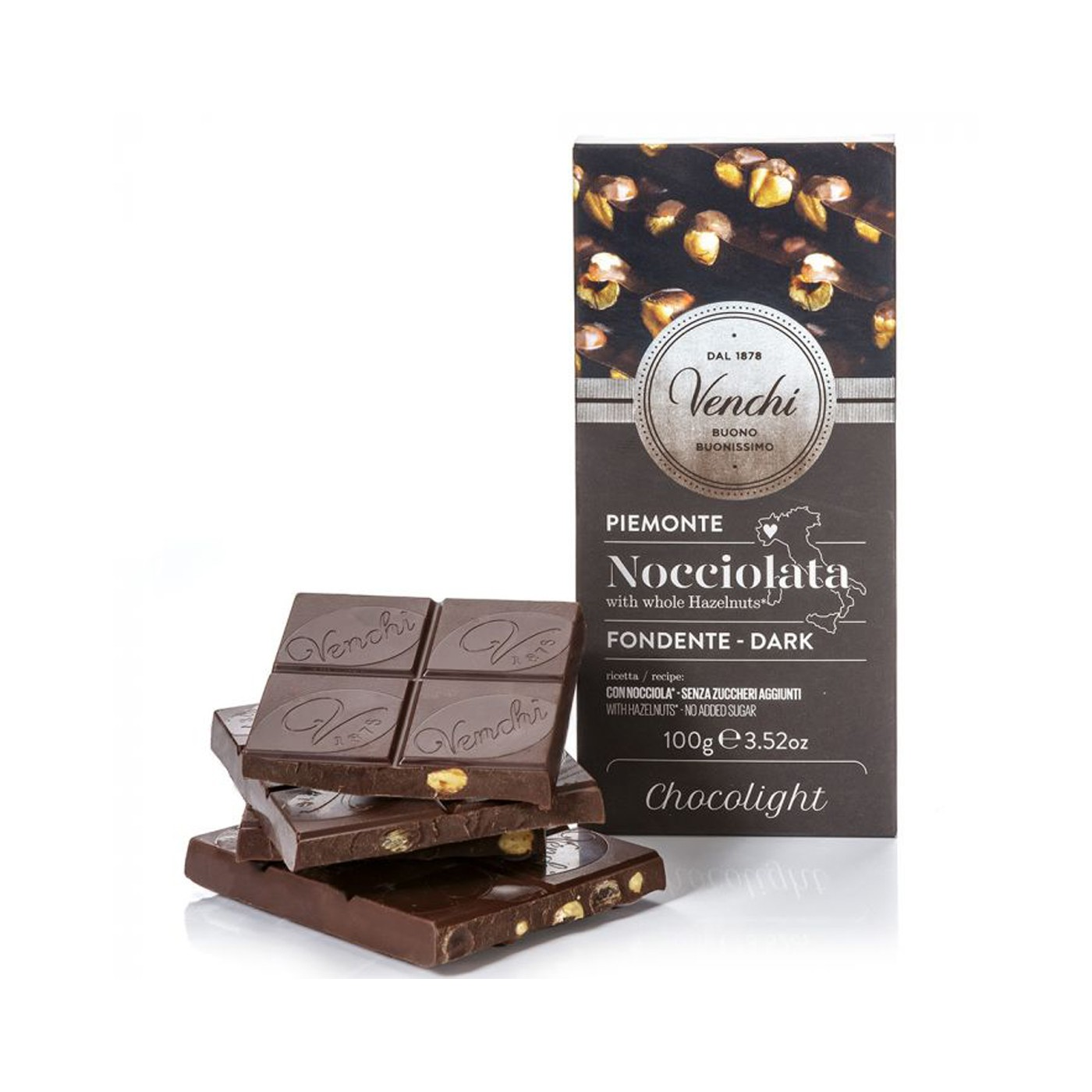 Dark Chocolate and Hazelnuts Bar 3.5 Oz