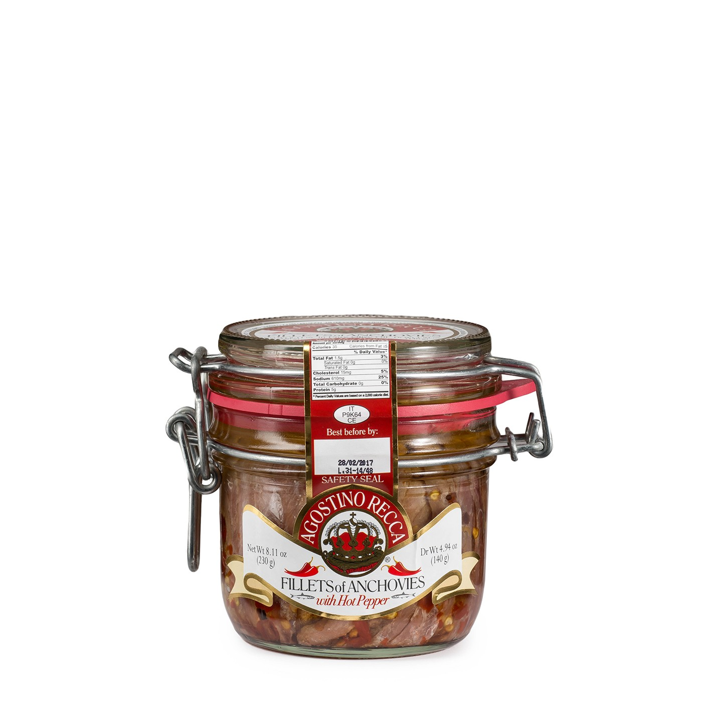Spicy Anchovies in Olive Oil 8 oz