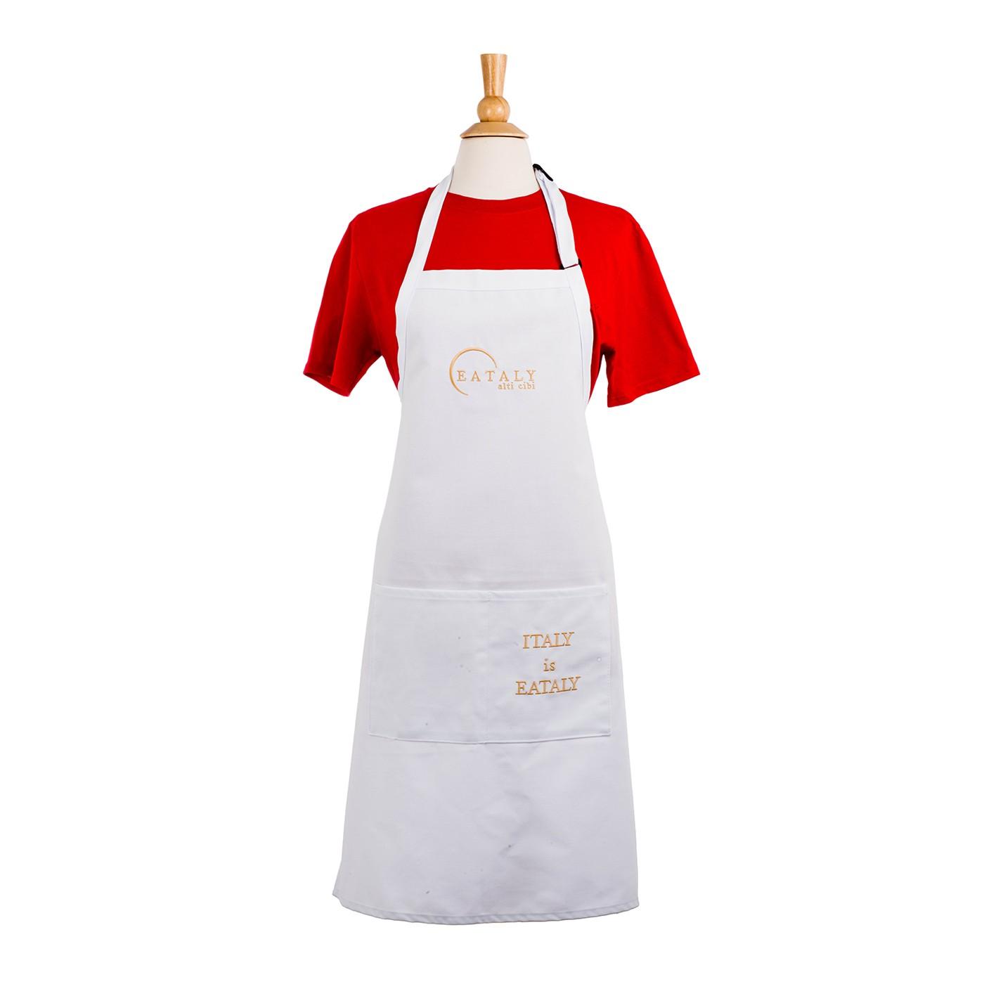 White apron auckland - Italy Is Eataly Apron White