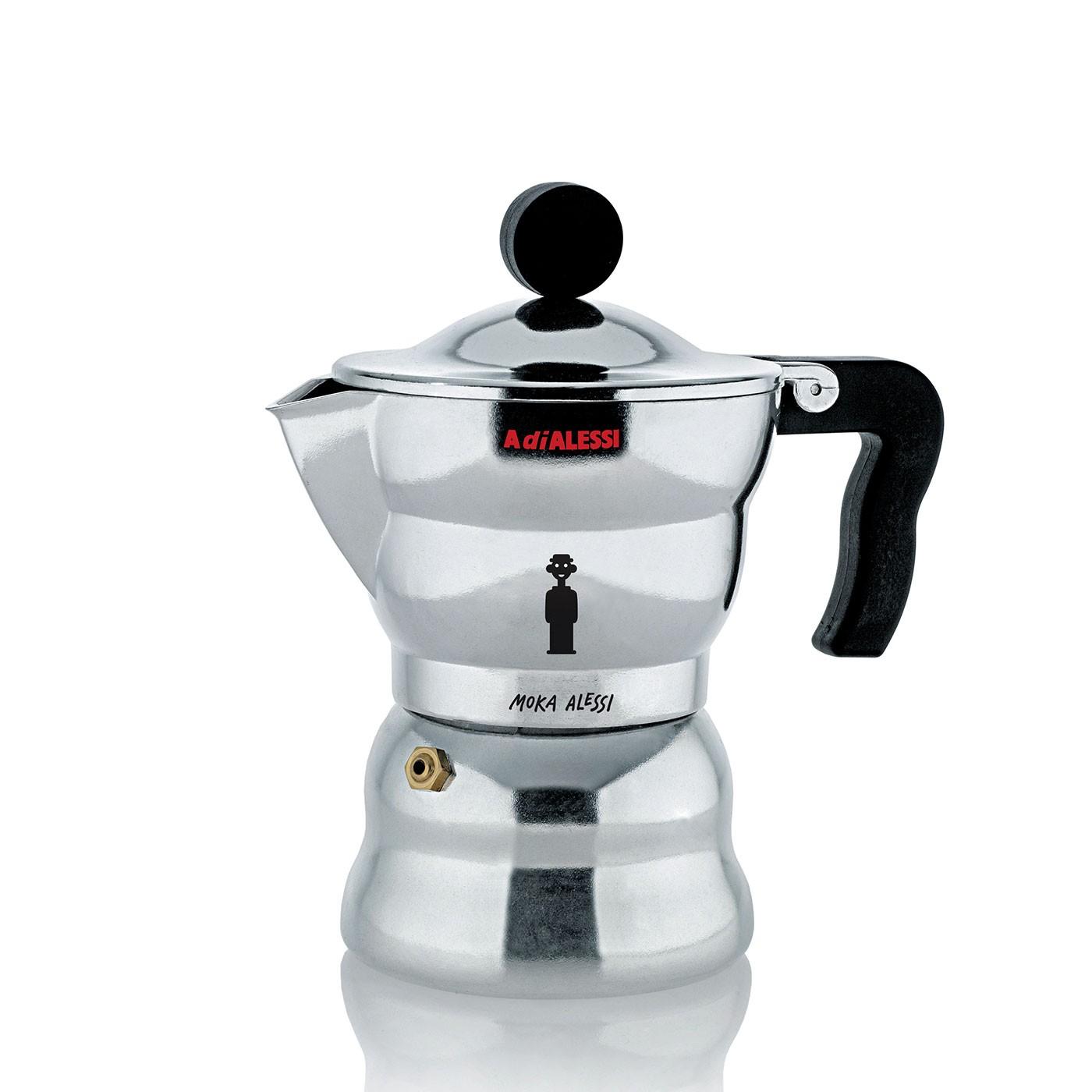 Moka Alessi Espresso Coffee Maker - 3 Cup
