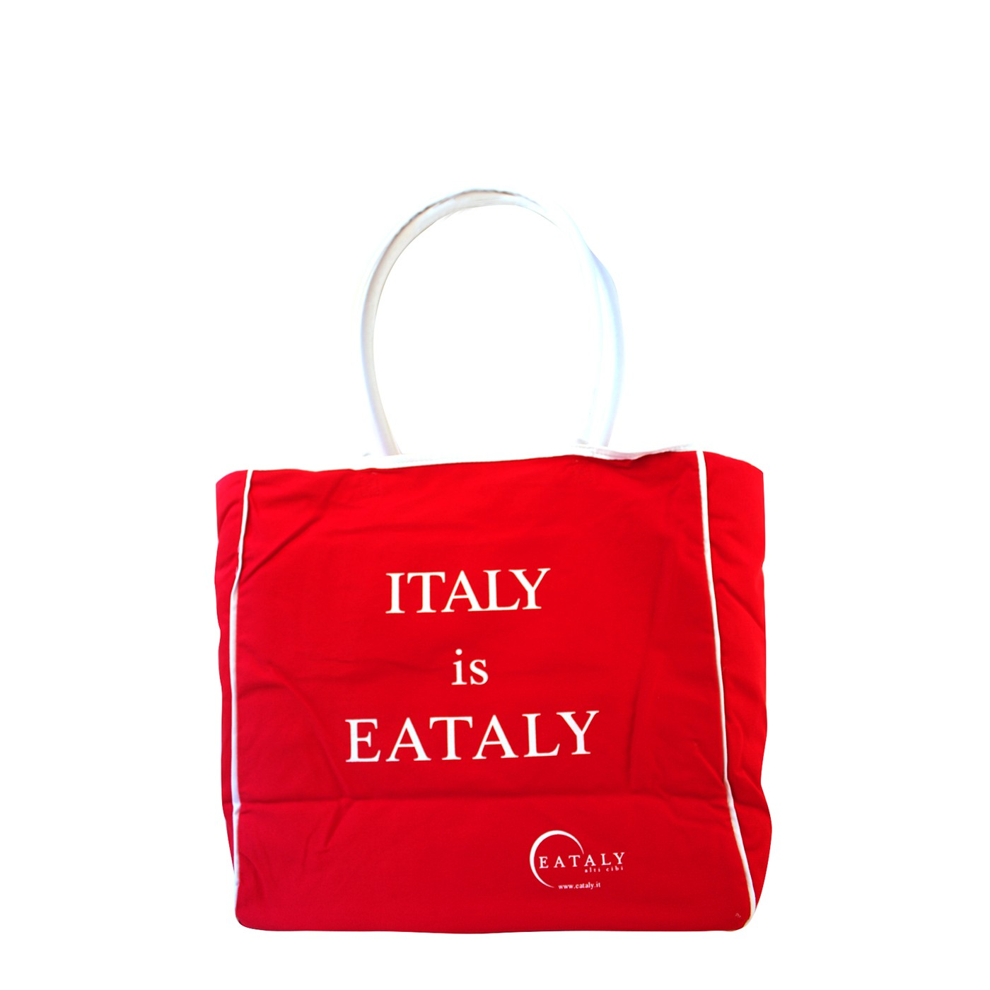Italy is Eataly Zipper Tote Bag - Red