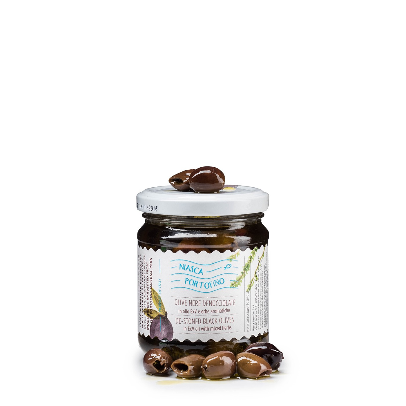 Pitted Black Olives with Herbs 6 oz
