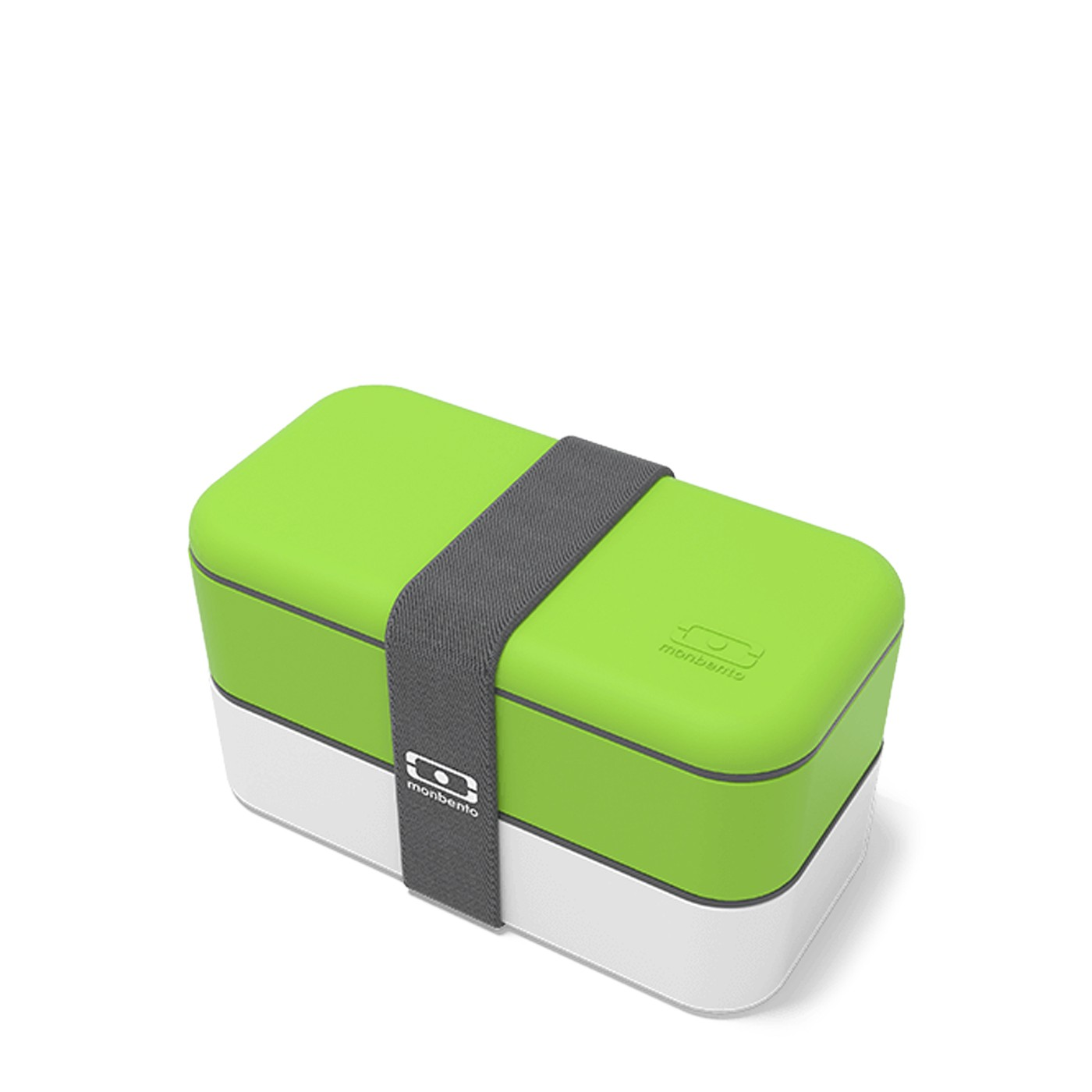 Green-and-White Bento Box