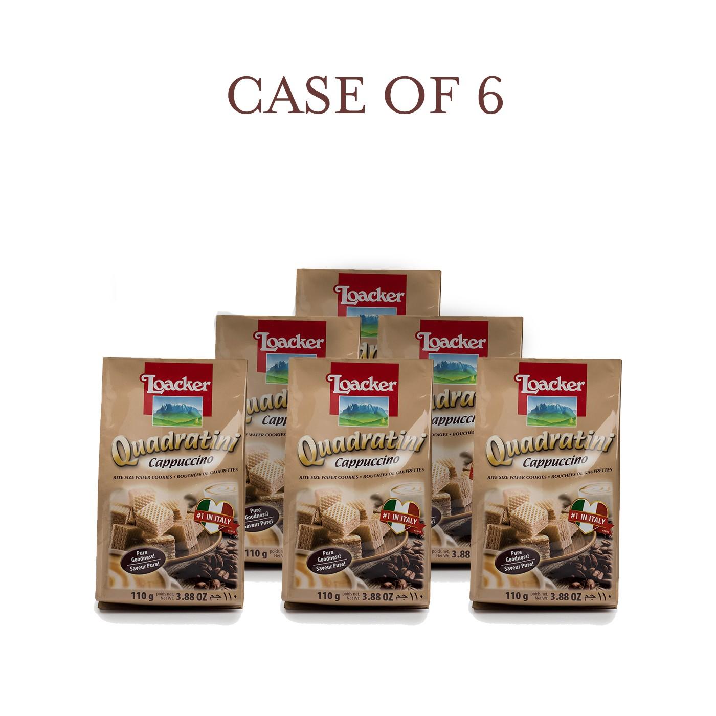 Cappuccino Quadratini - Case of 6