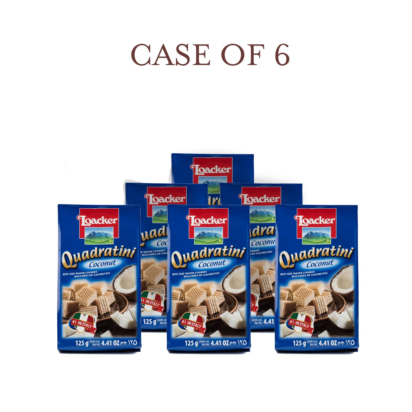 Coconut Quadratini - Case of 6